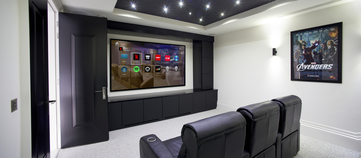 header space home media room